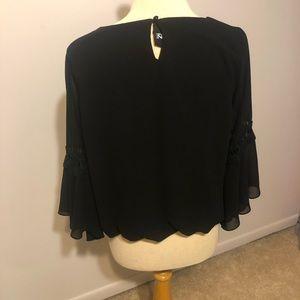 Long sleeve black blouse